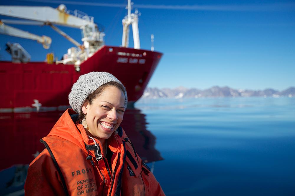 Rachel Fletcher. Photo taken by Sindre Skedre. Greenland