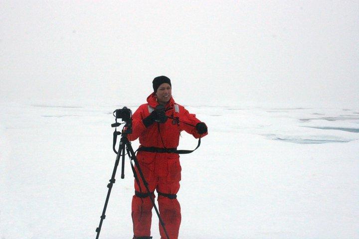 Rachel Fletcher on an ice floe