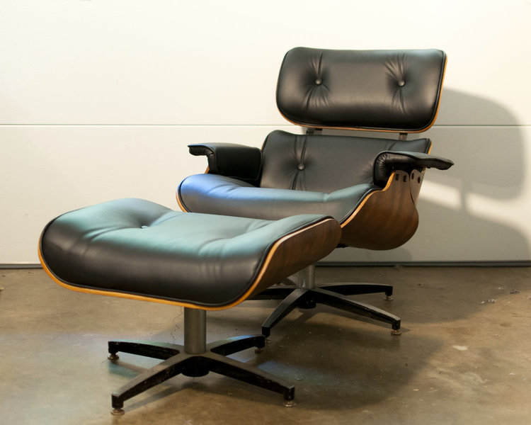 An Eames chair upholstered by Rachel Fletcher of Knox Upholstery, Knoxville, Tennessee