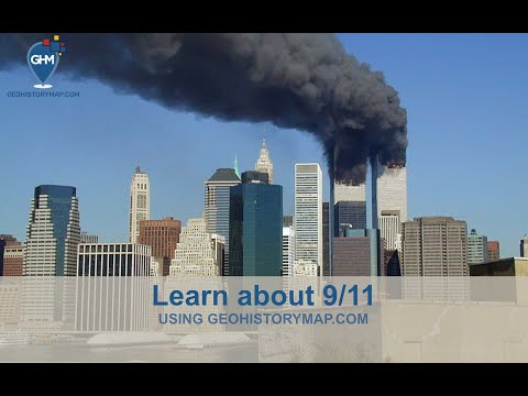Map about 9/11 - This map is about the story of what happened on September 11, 2001.