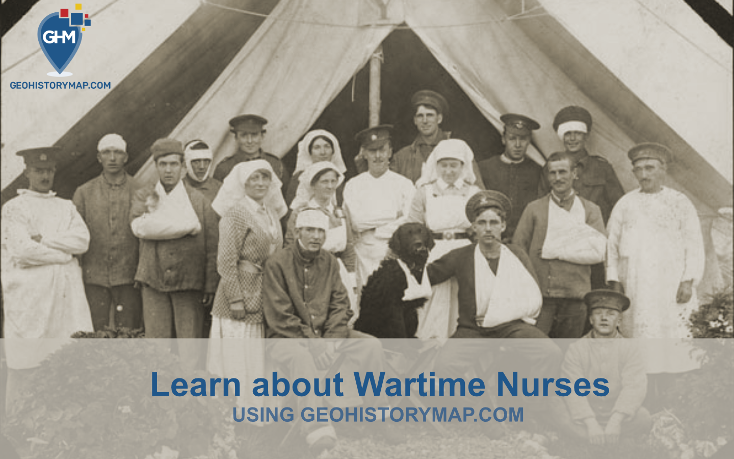Map about Nurses during Wartime - This map is about the story of nurses that served during World War One and Two