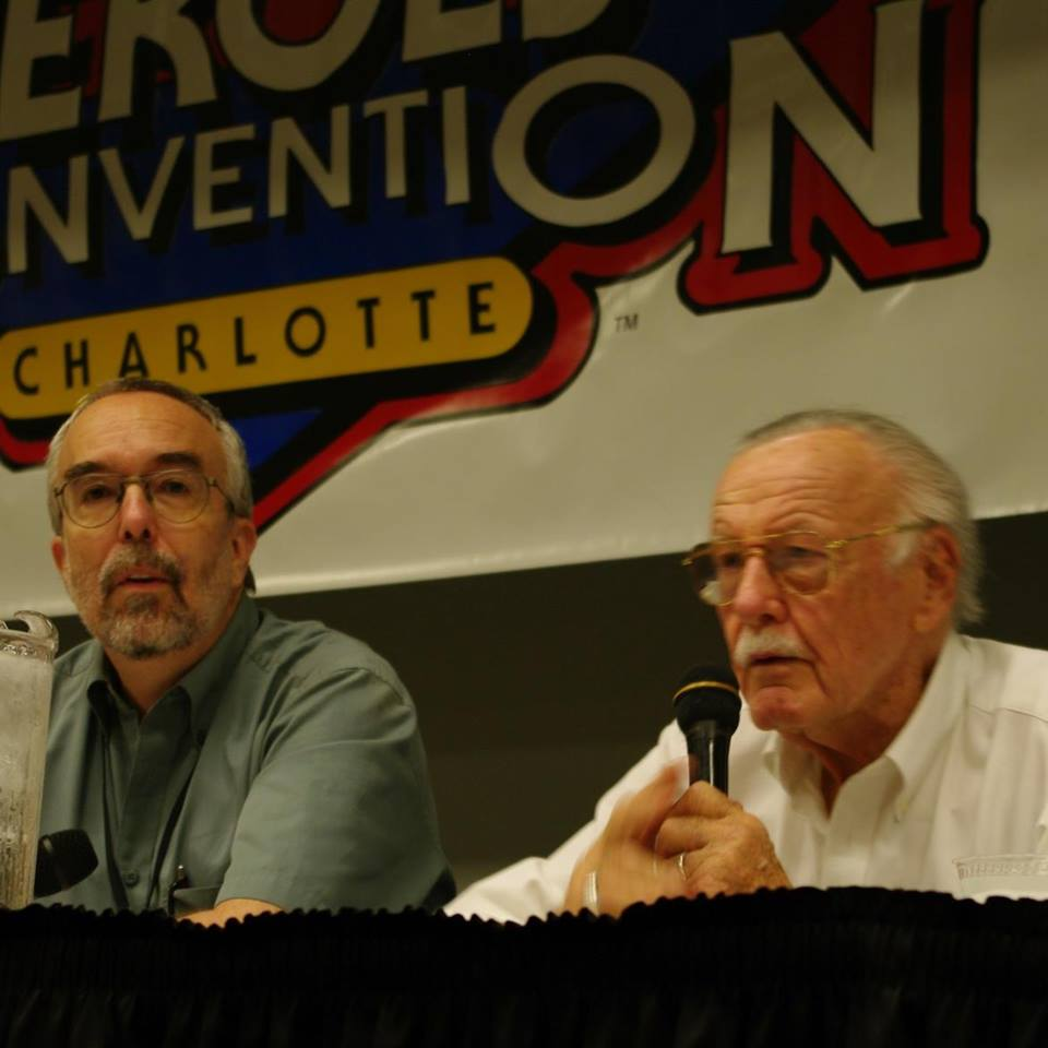 Steve Saffel on a panel with Marvel publisher, editor and producer Stan Lee
