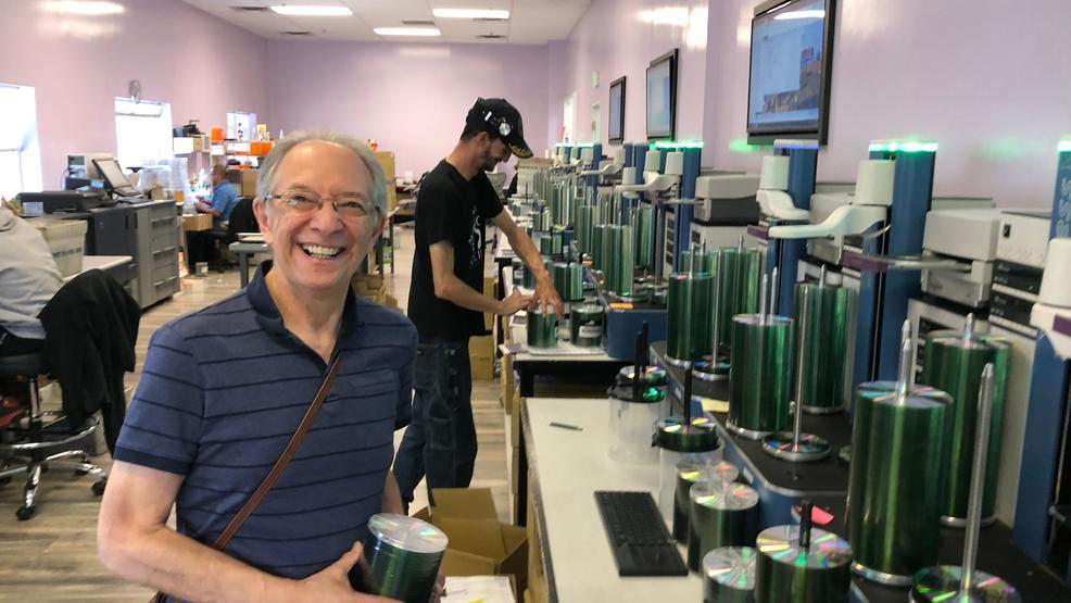 Rick Bleiweiss at Blackstone's audio packaging facilities