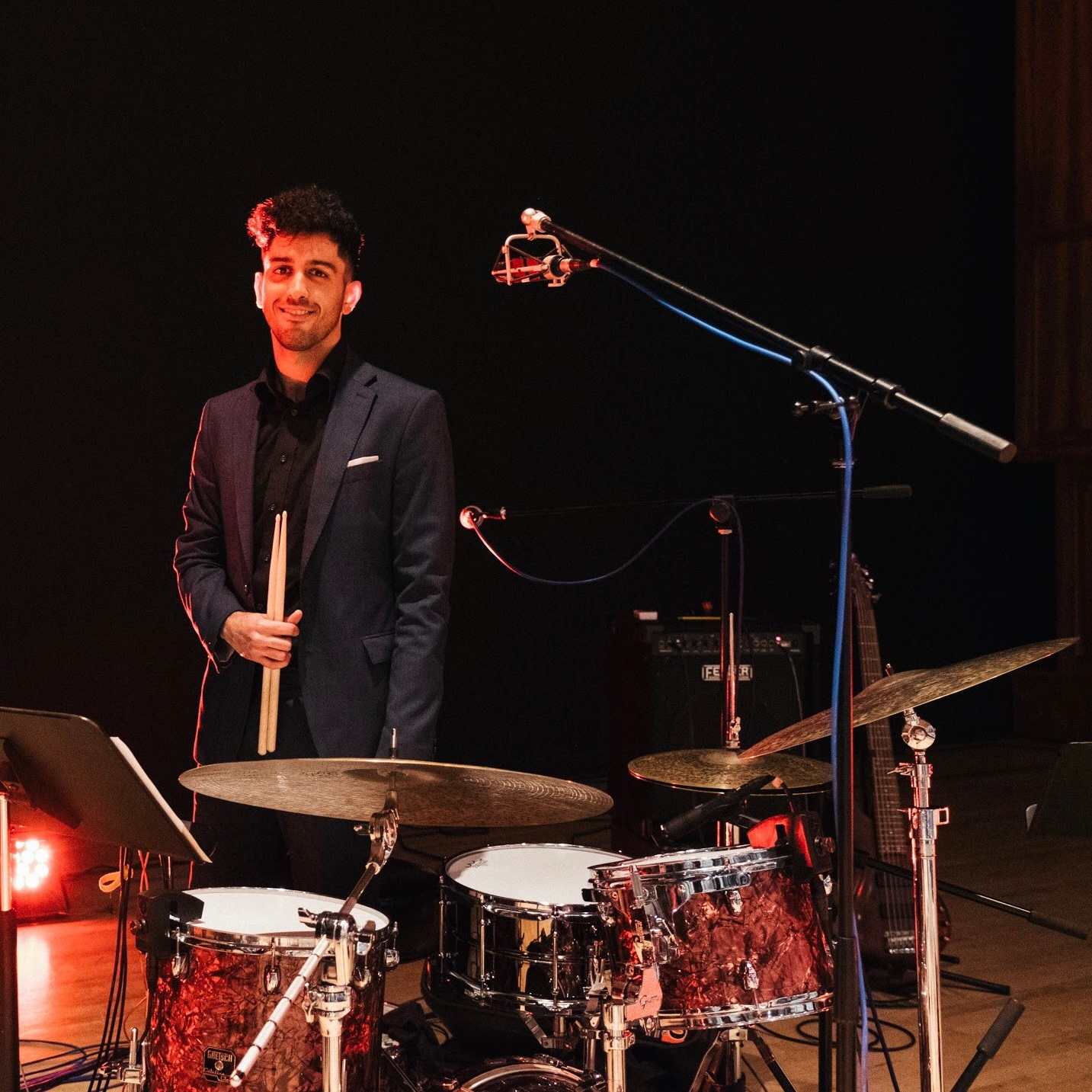 Koosha - Koosha received his B.A. in Jazz Drumming from UC Irvine, where he studied with professors who worked with prestigious musicians Ravi Coltrane, Maynard Ferguson, and Miles Davis. Koosha has taught with several msuical theater companies and currently performs throughout San Diego with his band, The Dapper Bandits.