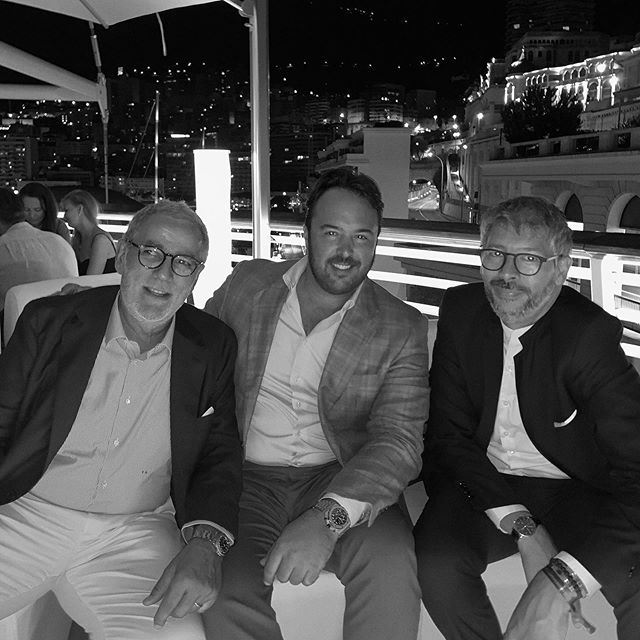 "Tommaso Spadolini, Ramón Alonso & Cristiano Gatto at the LÜRSSEN party to wrap up the Monaco Yacht Show 2019. Three Designers and friends featured on the ""Superyacht Interiors Vol 1 & 2"" books by Boat International Media. ⠀ .⠀ .⠀ .⠀ #ramonalonsodesign #radyca #radycadesign #arquitecture #design #interiordesign  #decoration #decor #designconcept  #lifestyle #superyachts #yacht #luxury #superyacht  #architecture #onlyforluxury #UHNWI #megayacht  #luxurylifestyle #christianogatto #syinteriors⠀#mys2019  @ramonalonsooc @boatinternational"