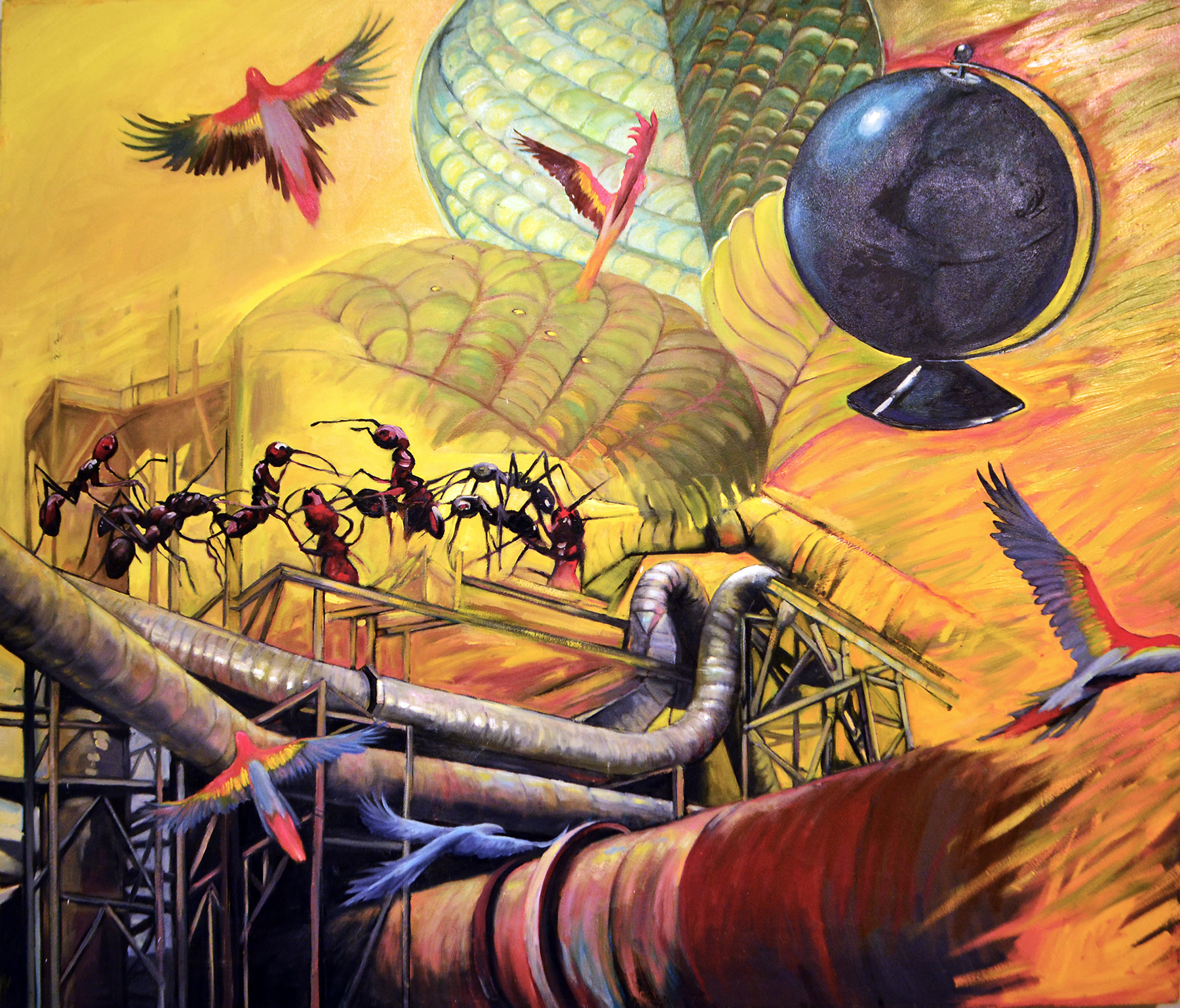 """The Known World  2015 oil on canvas 44 x 52"""""""