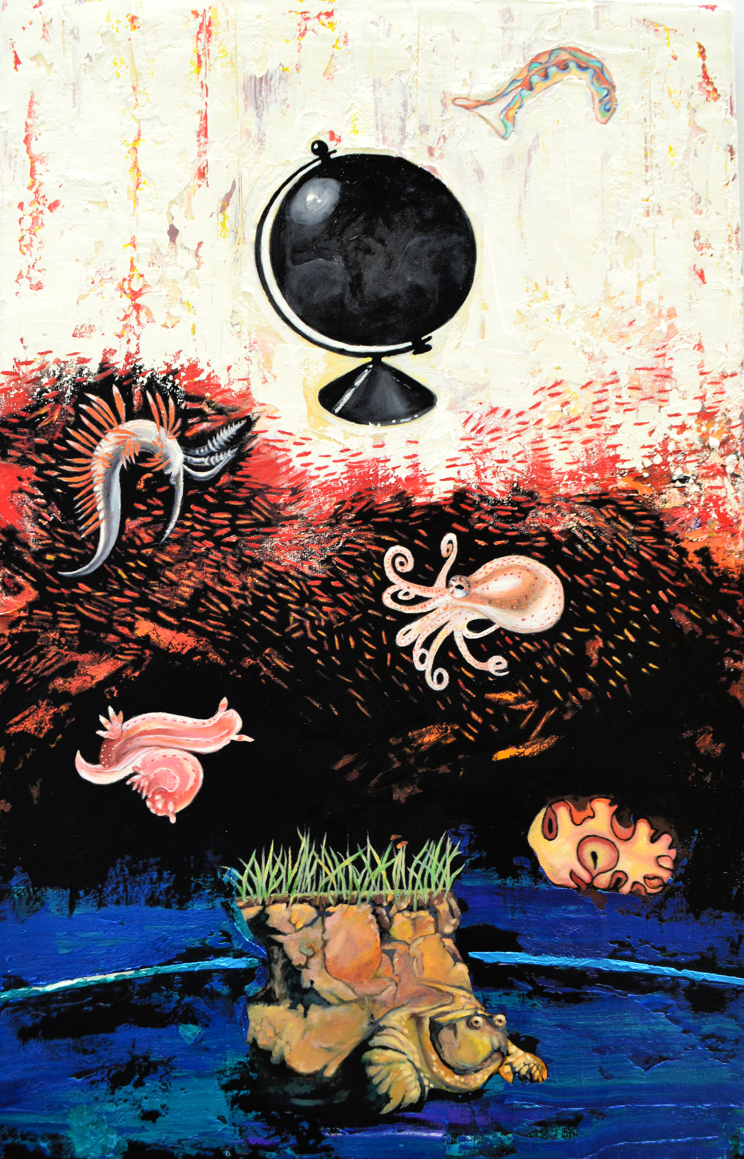 "Extinction  2019 oil on canvas 50 x 32"""