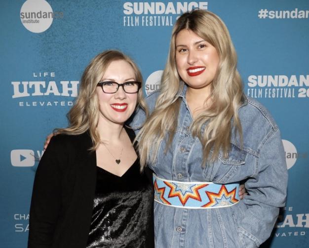 Director Alex Lazarowich and editor Sarah Taylor attend the Sundance Film Festival. Photo: Jen Fairchild
