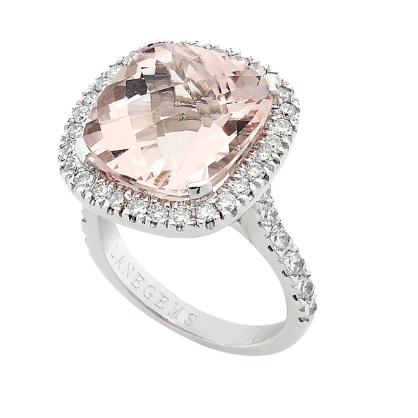 7ct Morganite Cushion cut cocktail ring