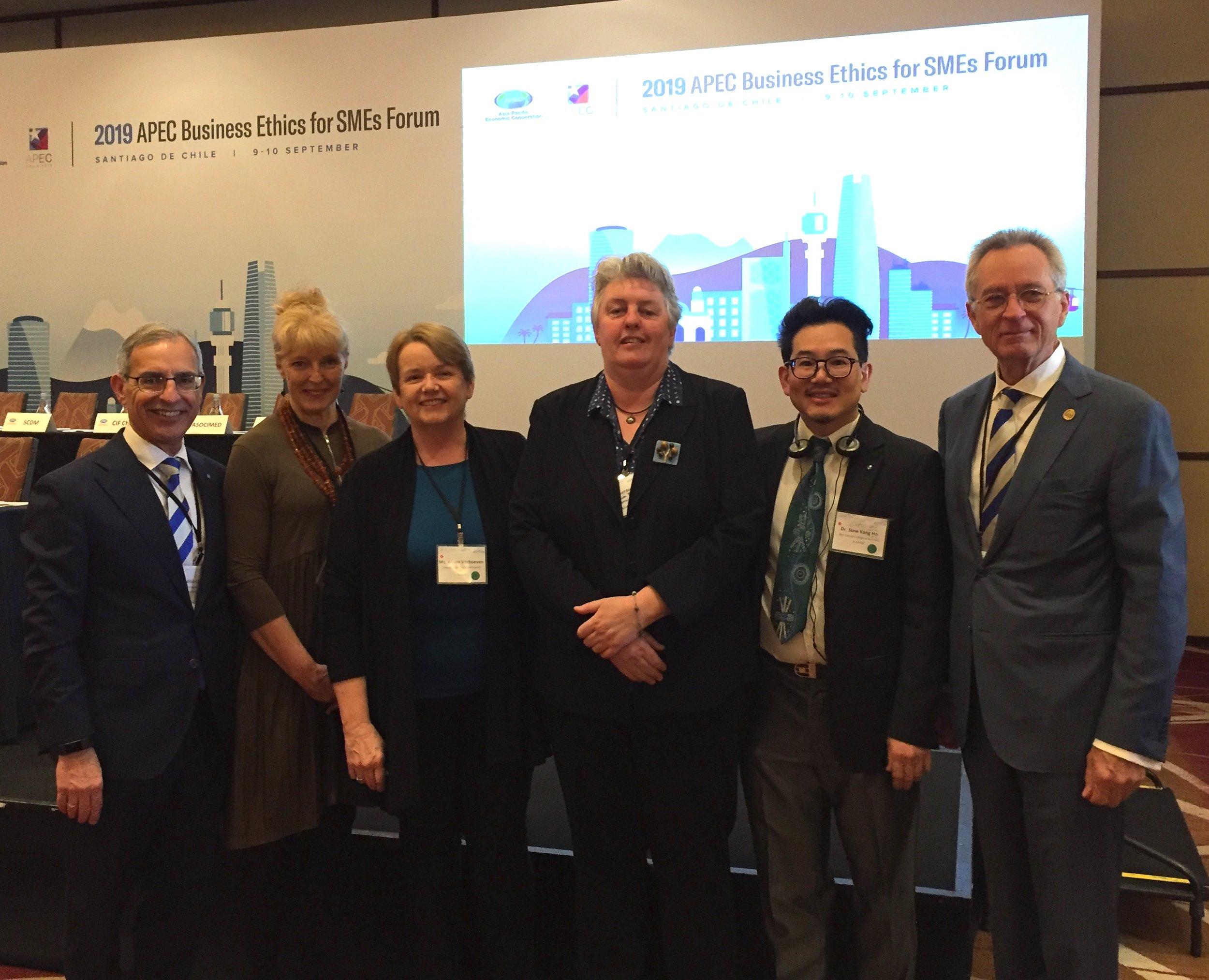 AEHA representatives at the 2019 APEC Business Ethics for SMEs Forum