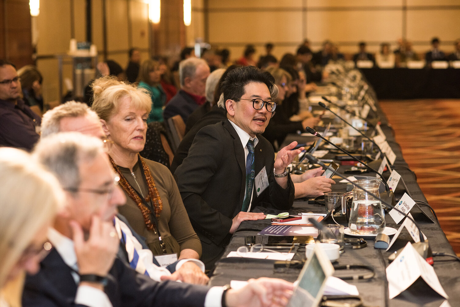 Siaw Kang Ho, representing the Skin Cancer College of Australia, during question at the Plenary Session at the 2019 APEC Forum