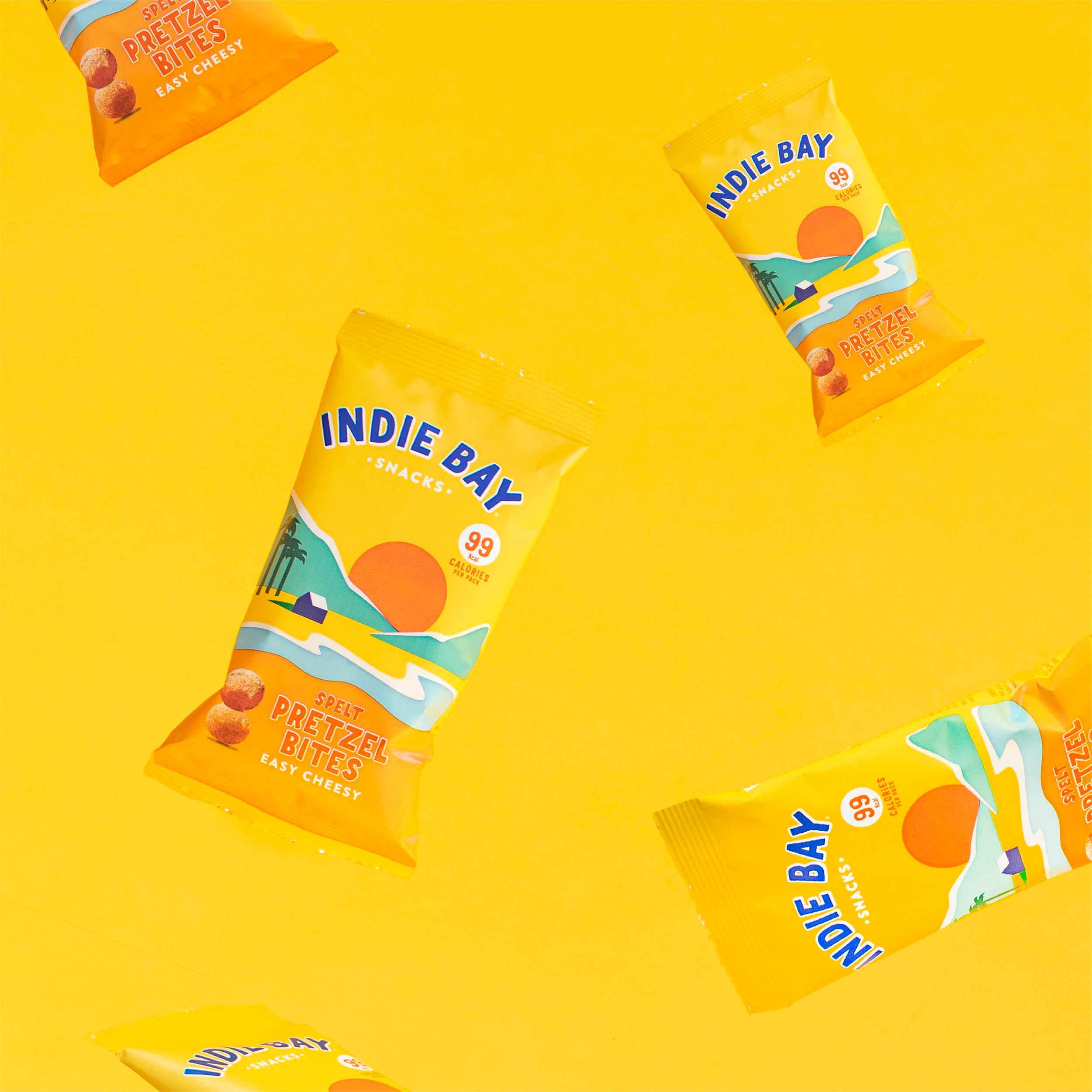 indie bay snacks - research + design + production + awareness