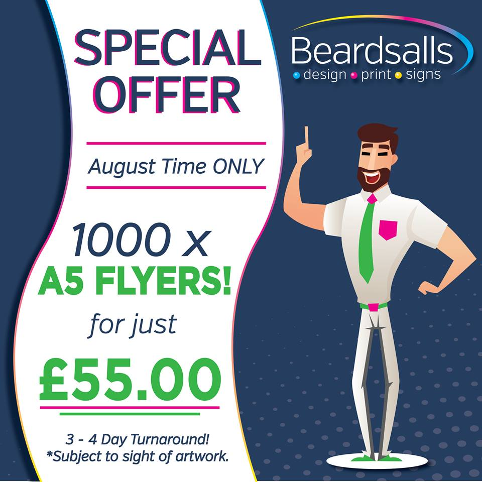SPECIAL OFFER - August 2019 - leaflets & Flyers