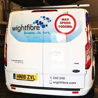 Wightfibre van rear view