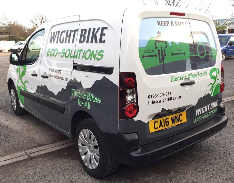 Wight Bike van rear view