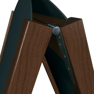 'A' stand robust hinges