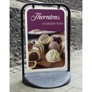 Medium sized Eco Swinger pavement sign, printed up