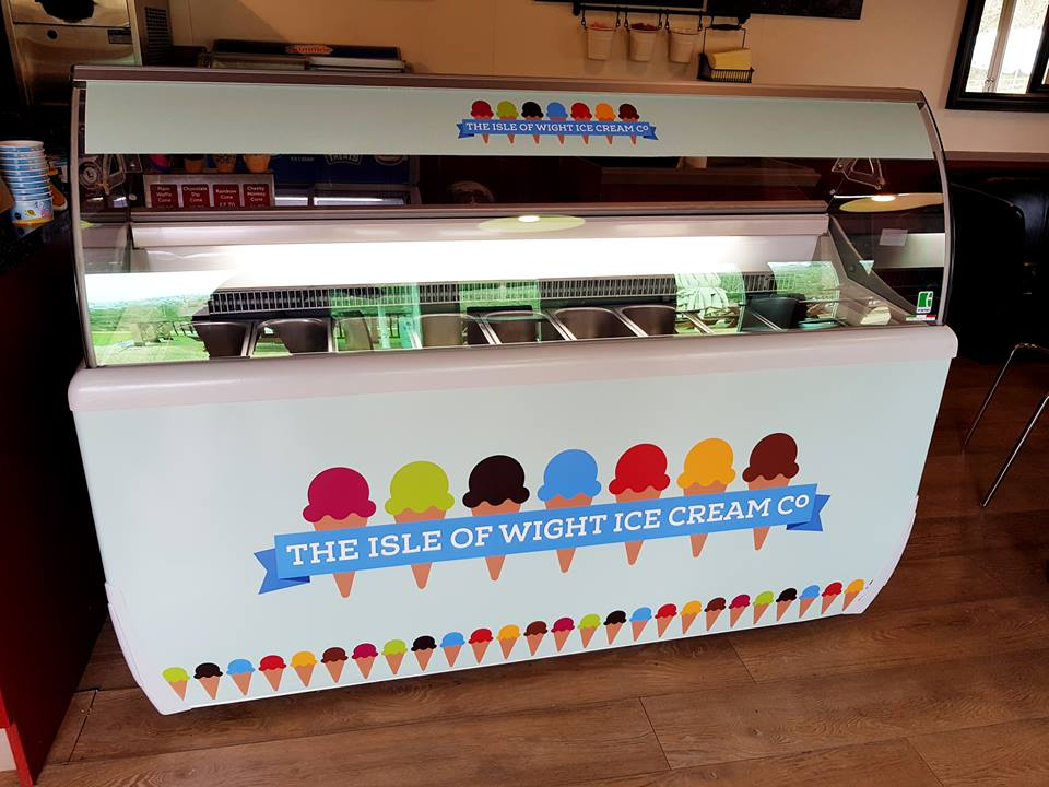 The Isle of Wight Icecream Co adhesive sign
