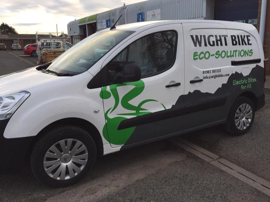 Wight Bike Eco-Solutions van side view