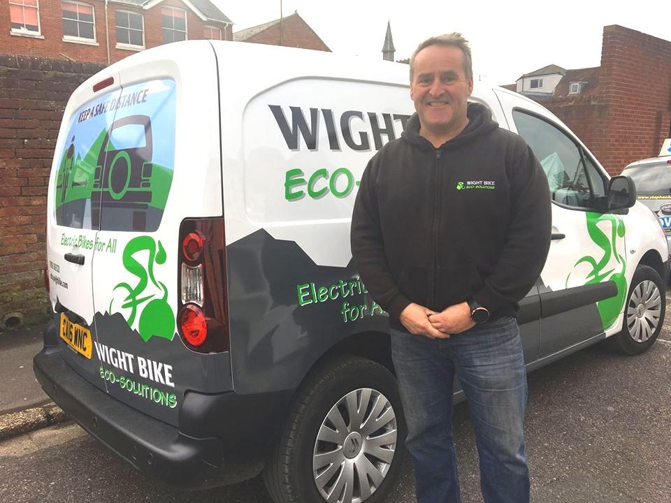 Wight Bike van & happy owner!