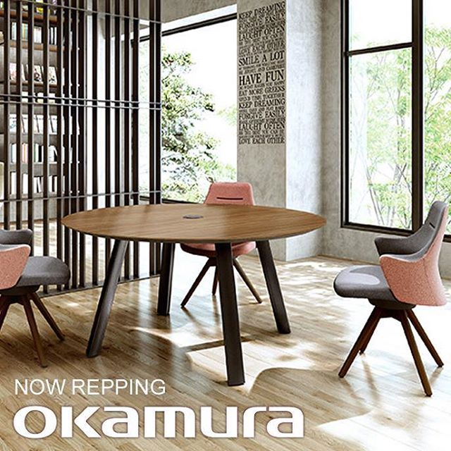 The Chicago S+B team is happy to announce they are the new reps for @okamura.global! They have a gorgeous showroom at the Mart. Contact your local rep for a tour! #okamura #contractfurniture #thereplife