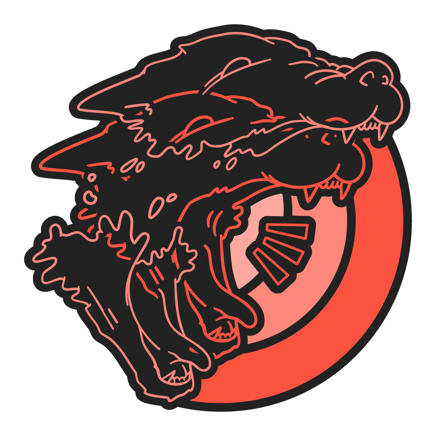 ROUGAROU Sticker Design