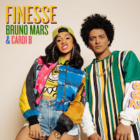 'Finesse' (Remix) by Bruno Mars feat. Cardi B - 'Bodak Yellow' singer Cardi B joins Bruno on the remix of the track Finesse from his Grammy-winning album 24k Magic, released in November 2016.