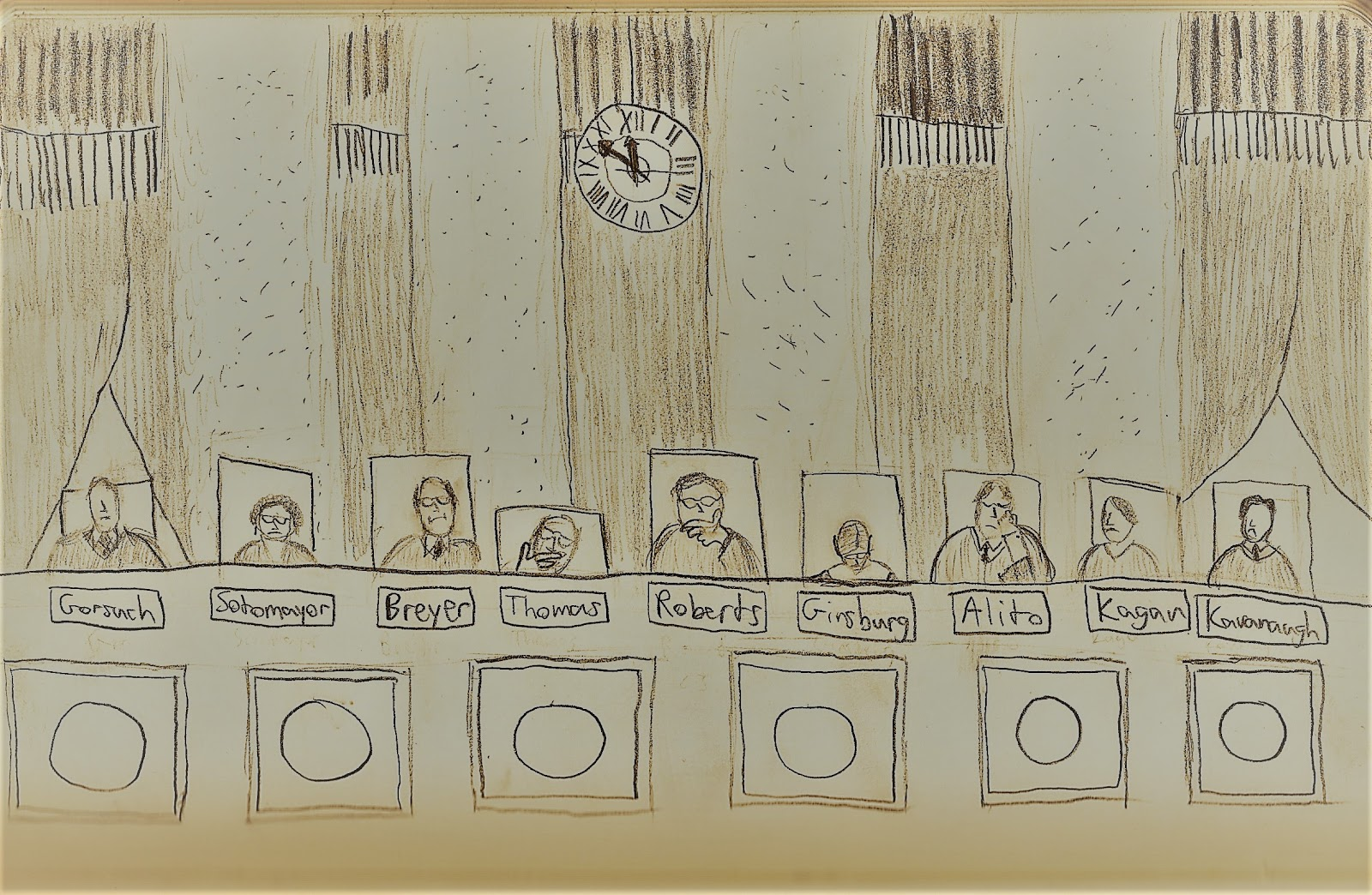 Artist's Rendering of the Supreme Court Bench  Credit: Alexander Ganias