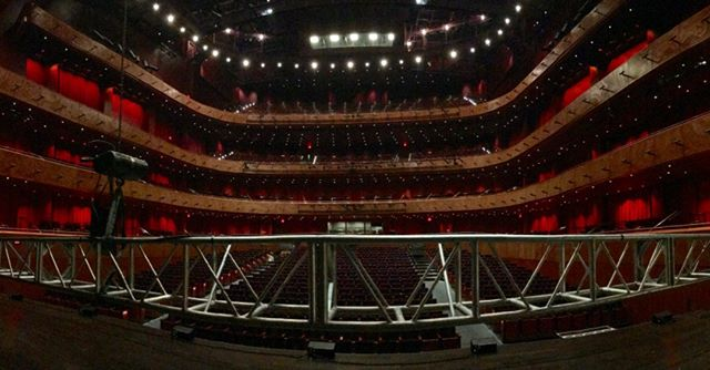 SAN ANTONIO — see Crescendo tonight at the Tobin Center for the Performing Arts. We're getting set up, hope to see you here! #cirquemusica #tcgentertainment #symphony