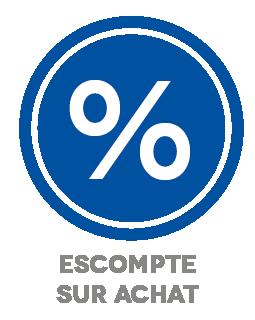 ESCOMPTE SUR ACHAT (%)