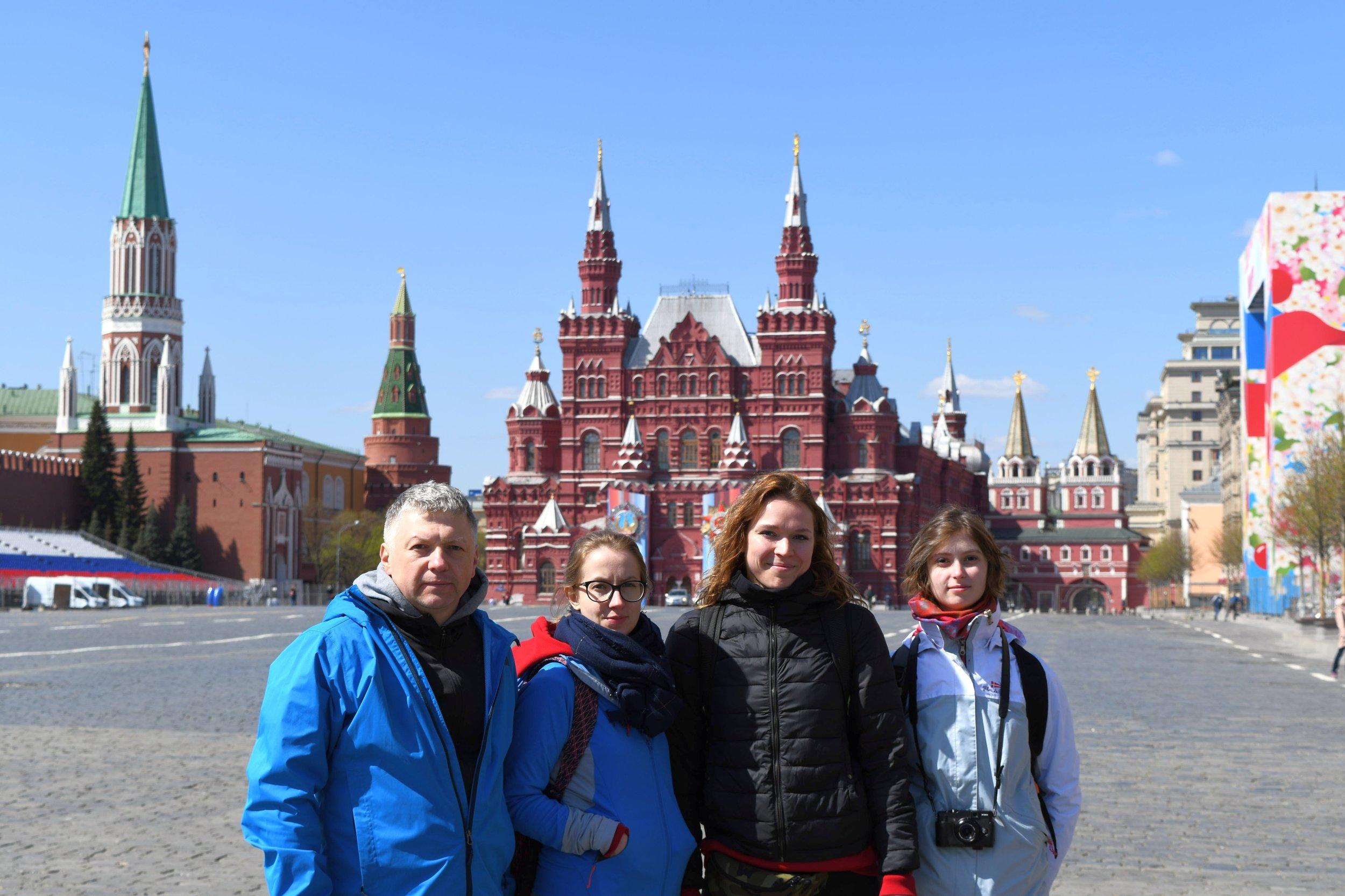 Kadra na Placu Czerwonym