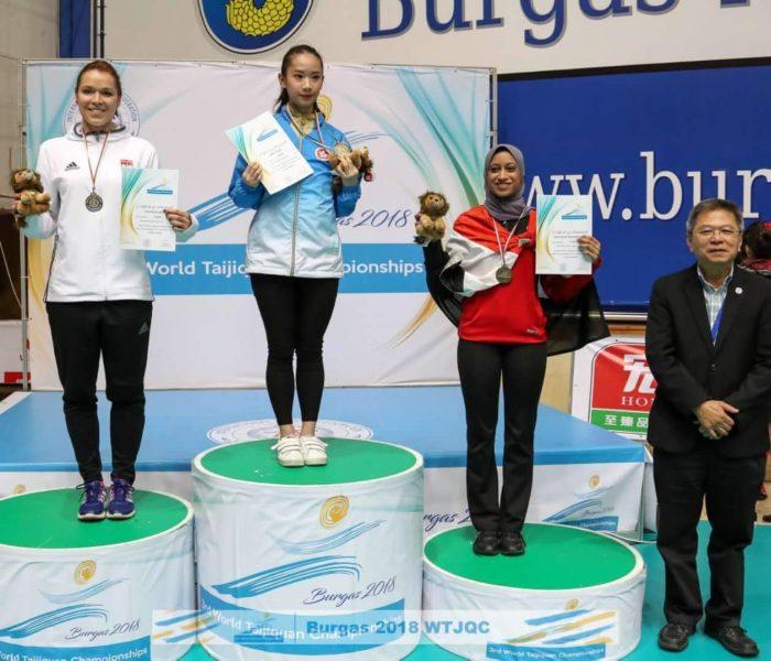 Ceremonia nagradzania: konkurencja New Yang Taijiquan (forma ręczna stylu Yang), Championship Events