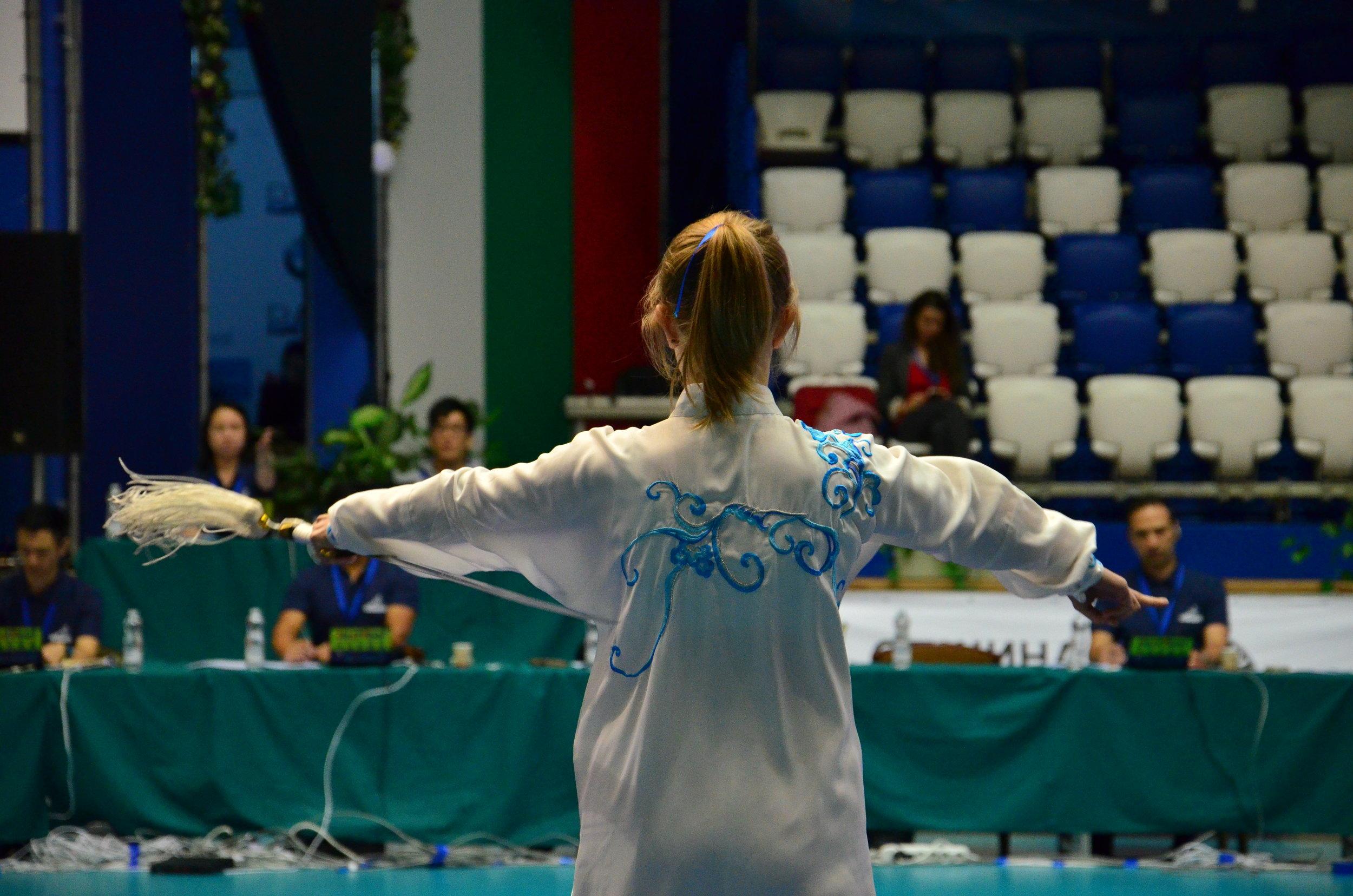 Ewa Solarz, konkurencja 42 Taijijian (Demonstration Events)
