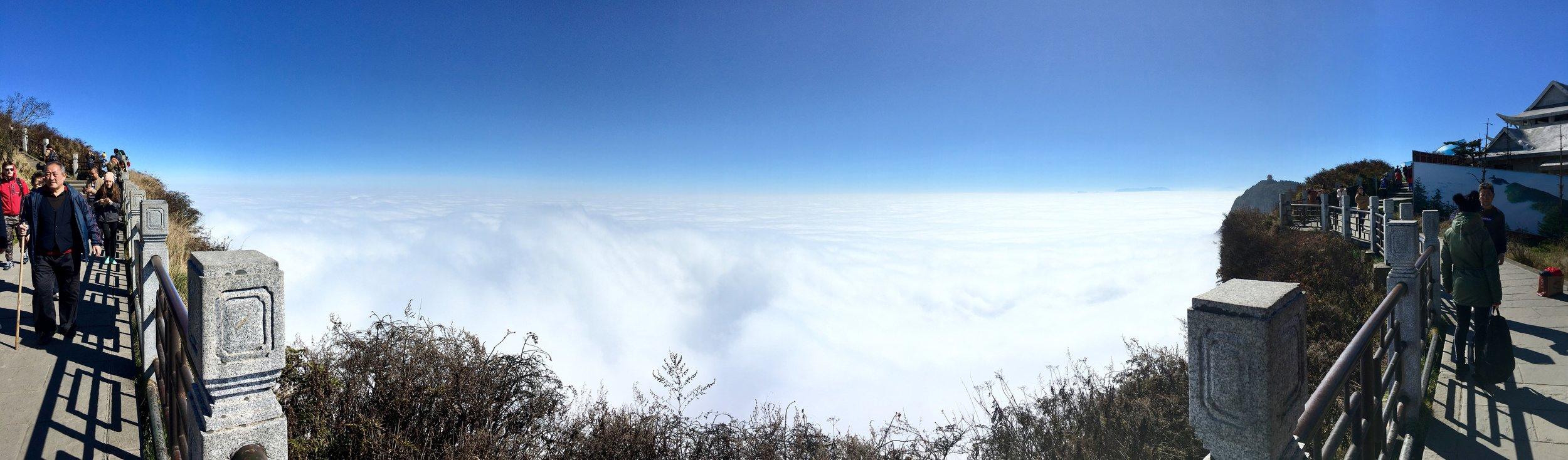 Krajobraz na Górze Emei