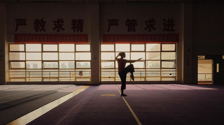 Trening podczas pobytu w ośrodku szkolenia sportowego w Xi-an