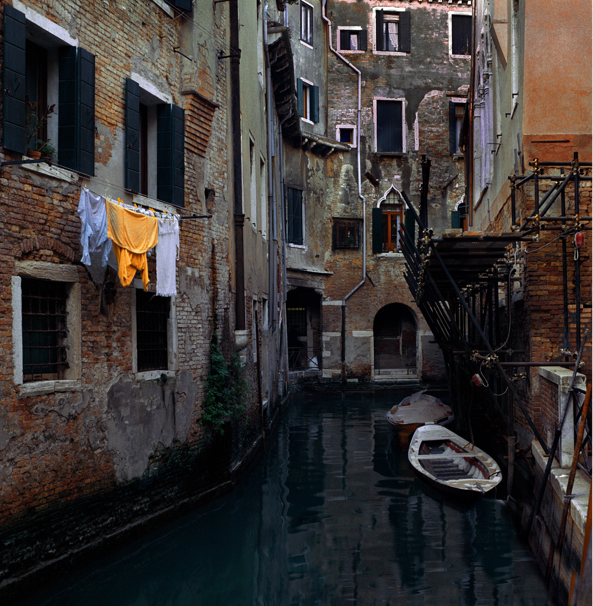 A Canal in Grey and Yellow, Cannaregio, Venice, 2001