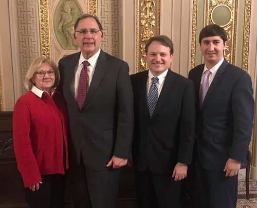 Pictured, l-r: Phyllis Harden, Pine Bluff Sand and Gravel; Senator John Boozman; Spencer Murphy, Canal Barge; Chris Blanchard, Cooper Consolidated.