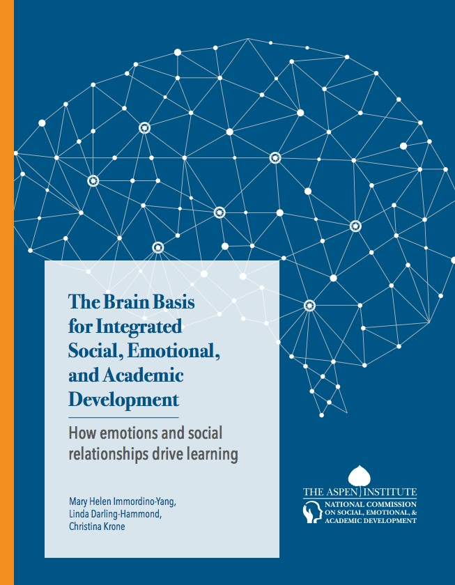 """2019 Report by the Aspen Institute: """"The Brain Bias for Integrated Social, Emotional, and Academic Development""""  Read the report"""