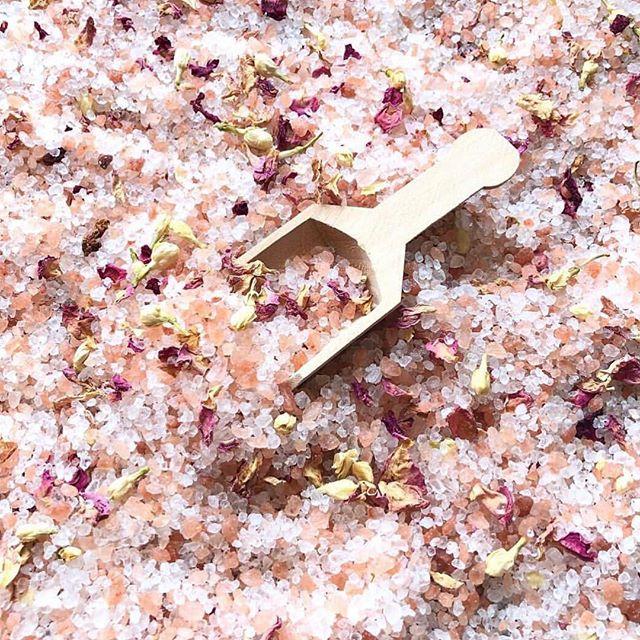 This bath salt is soooo pretty, I can't wait to smell it! Check it out @nenissoapshop at #theoldtownfleamarket! NEXT WEEKEND! #wecantwait #oldtownclovis #comeshopwithus #bestweekendever