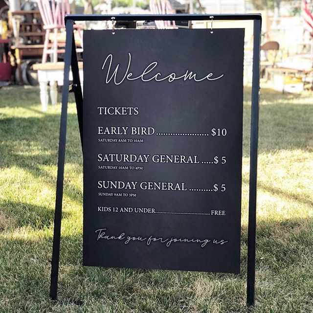 Here is all the info for #theoldtownfleamarket for this weekend! LOCATION: Clovis Rodeo Grounds  HOURS:  Saturday - Early bird $10 8am-10am  General admission $5 10am-4pm  Sunday - General Admission $5 all day 9am-3pm  We would love for you to join us! Tickets are available online {link in profile}, @thefoundrycollective, or at the gate the day of the event! Kids 12 and under are FREE! #bestweekendever #oldtownclovis #comeshopwithus