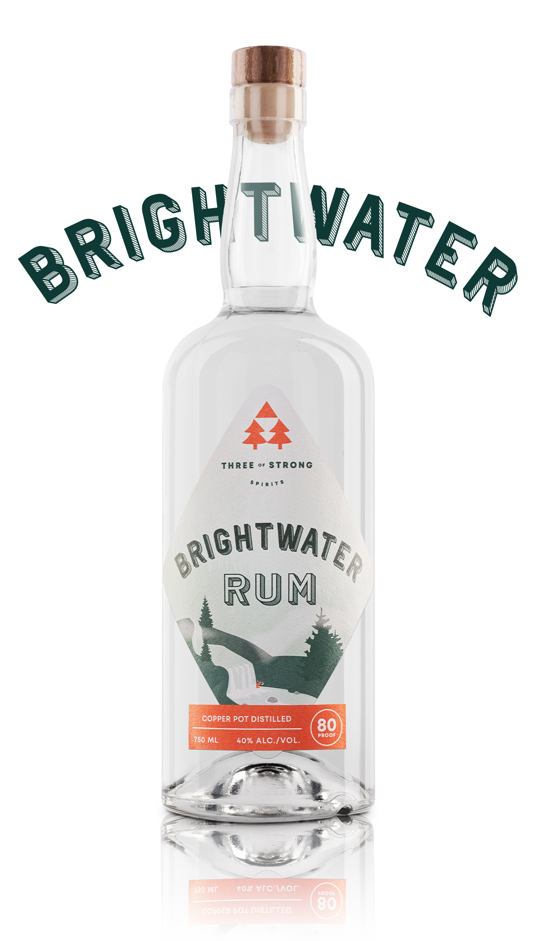 three of strong spirits, brightwater rum