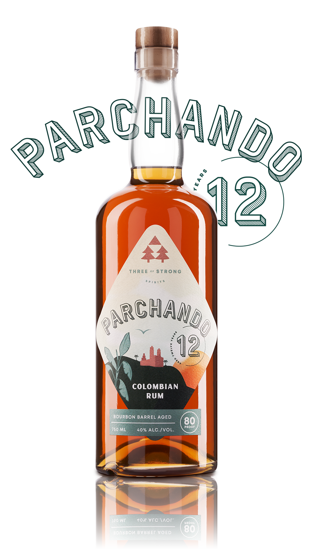 three of strong spirits, parchando rum