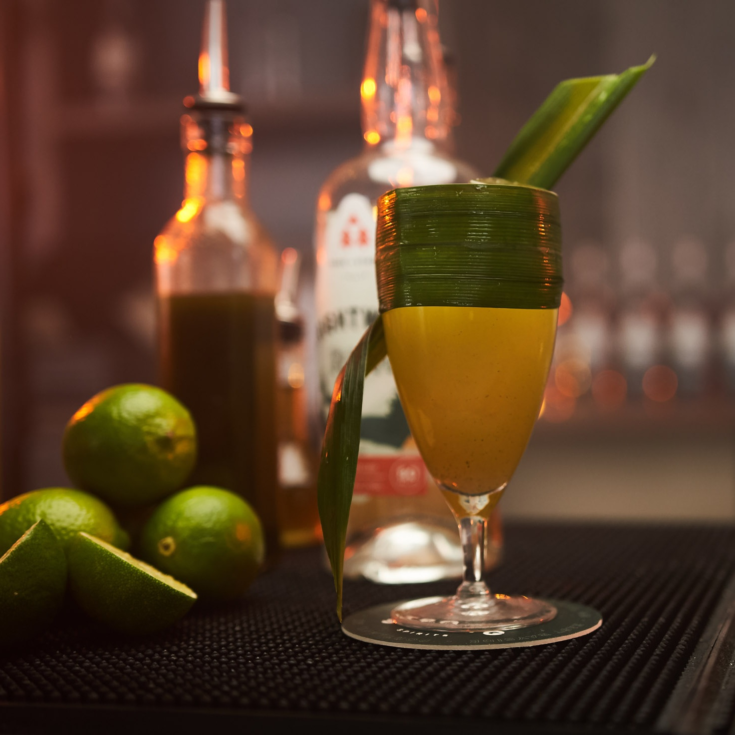 three of strong spirits, rum cocktail
