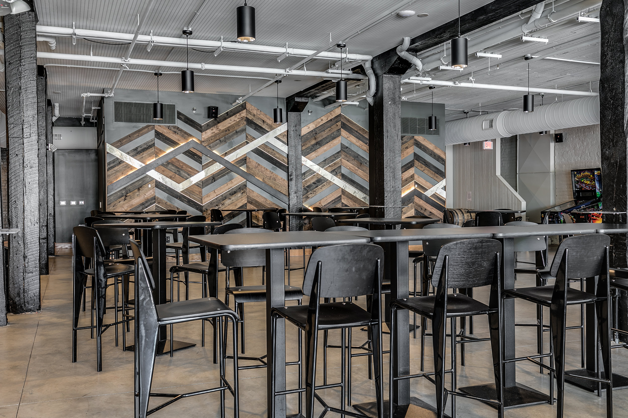 Canon & Draw - Brewery, Feature WallWood + ResinRichmond, VA