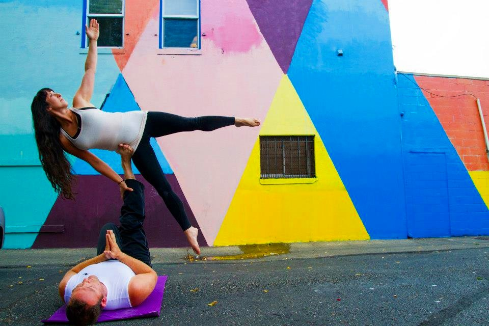 I have a lot of hobbies, acro yoga is one of them.
