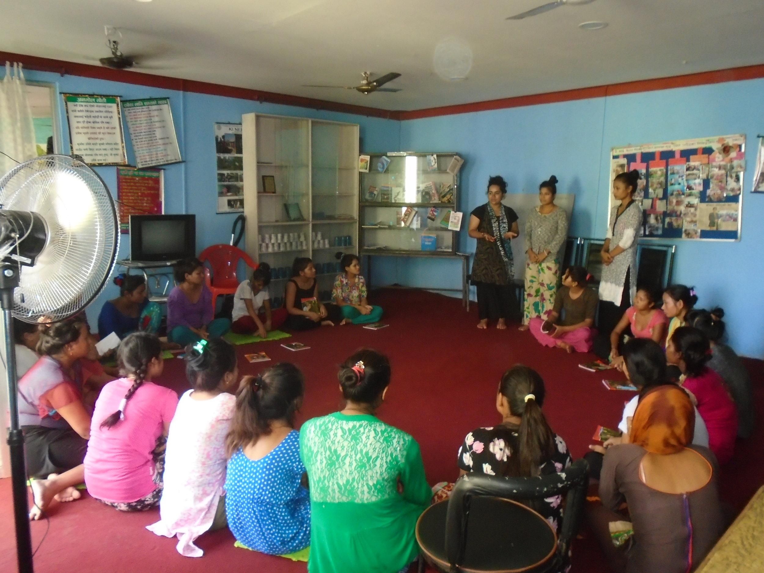 Taking class to safe home girls regarding human trafficking.jpg
