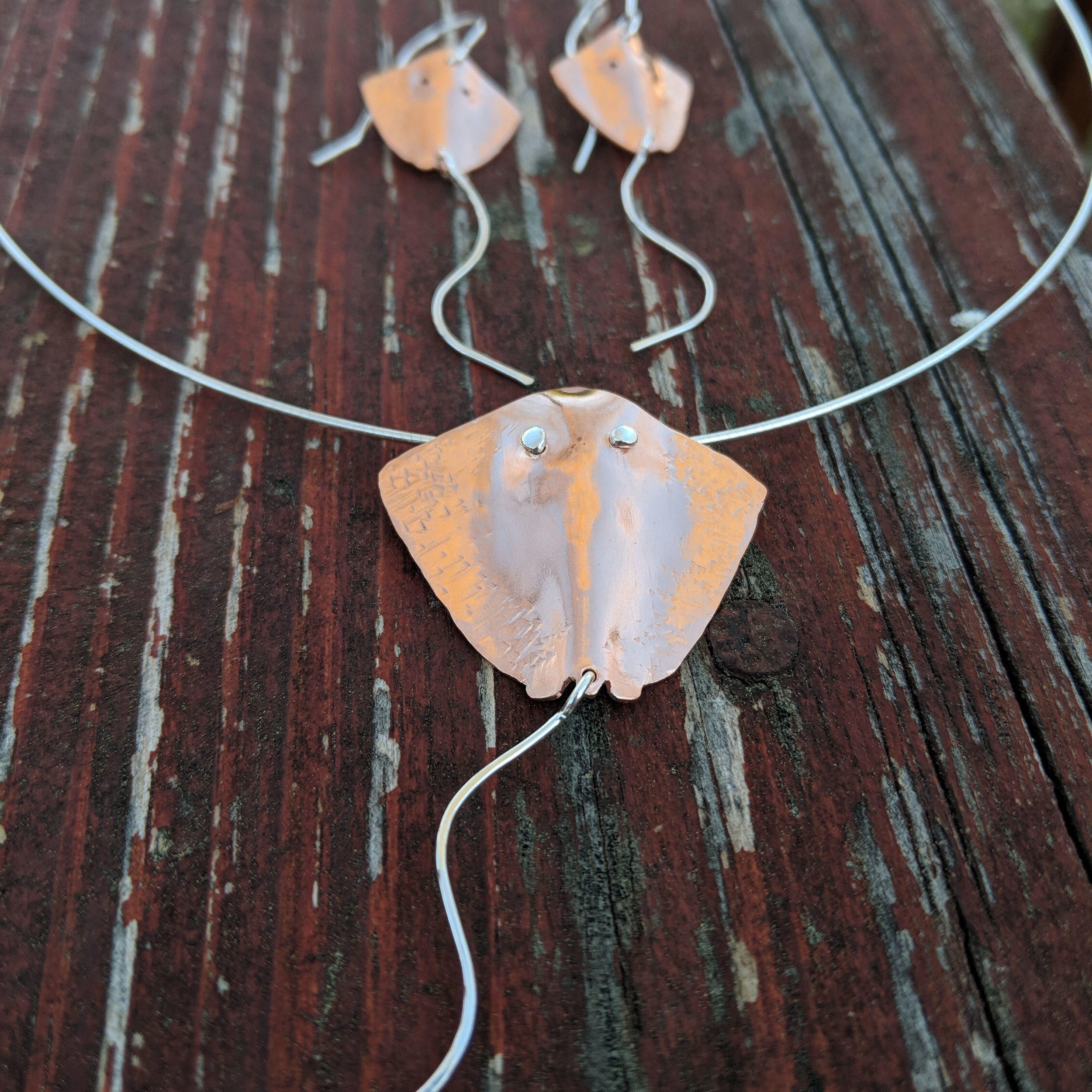 Copper and Sterling Stingray Set