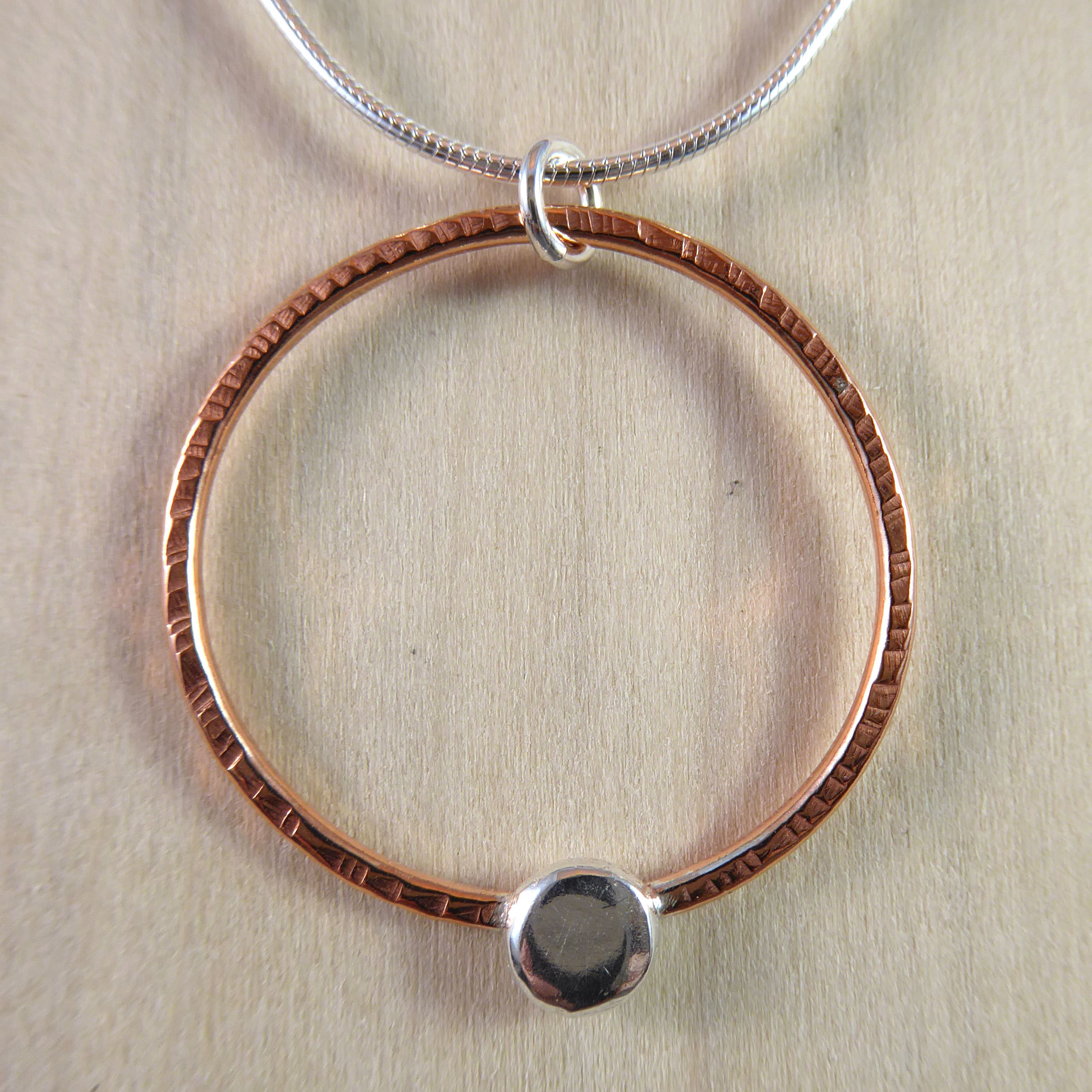 Copper Circle with Sterling Button