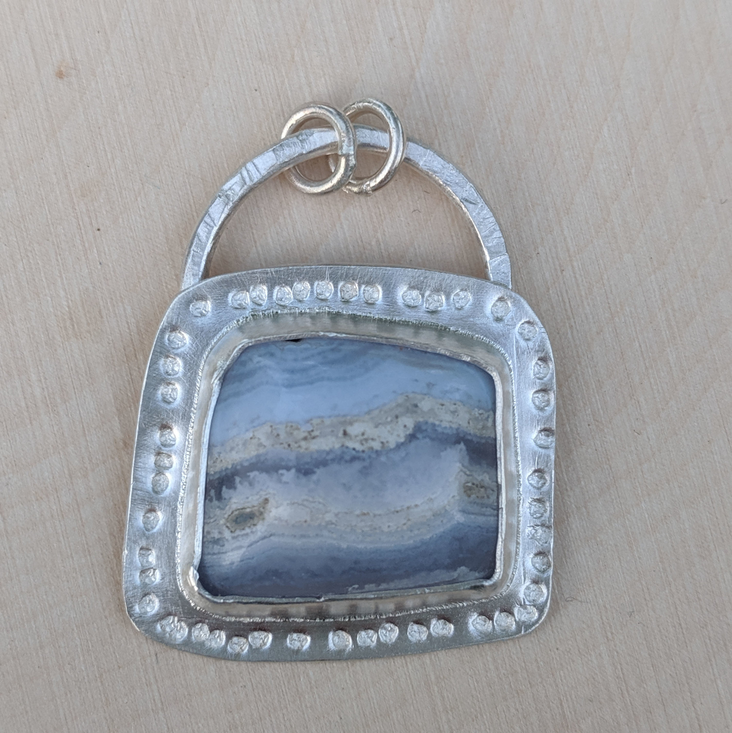 Blue Lace Agate and Sterling Silver