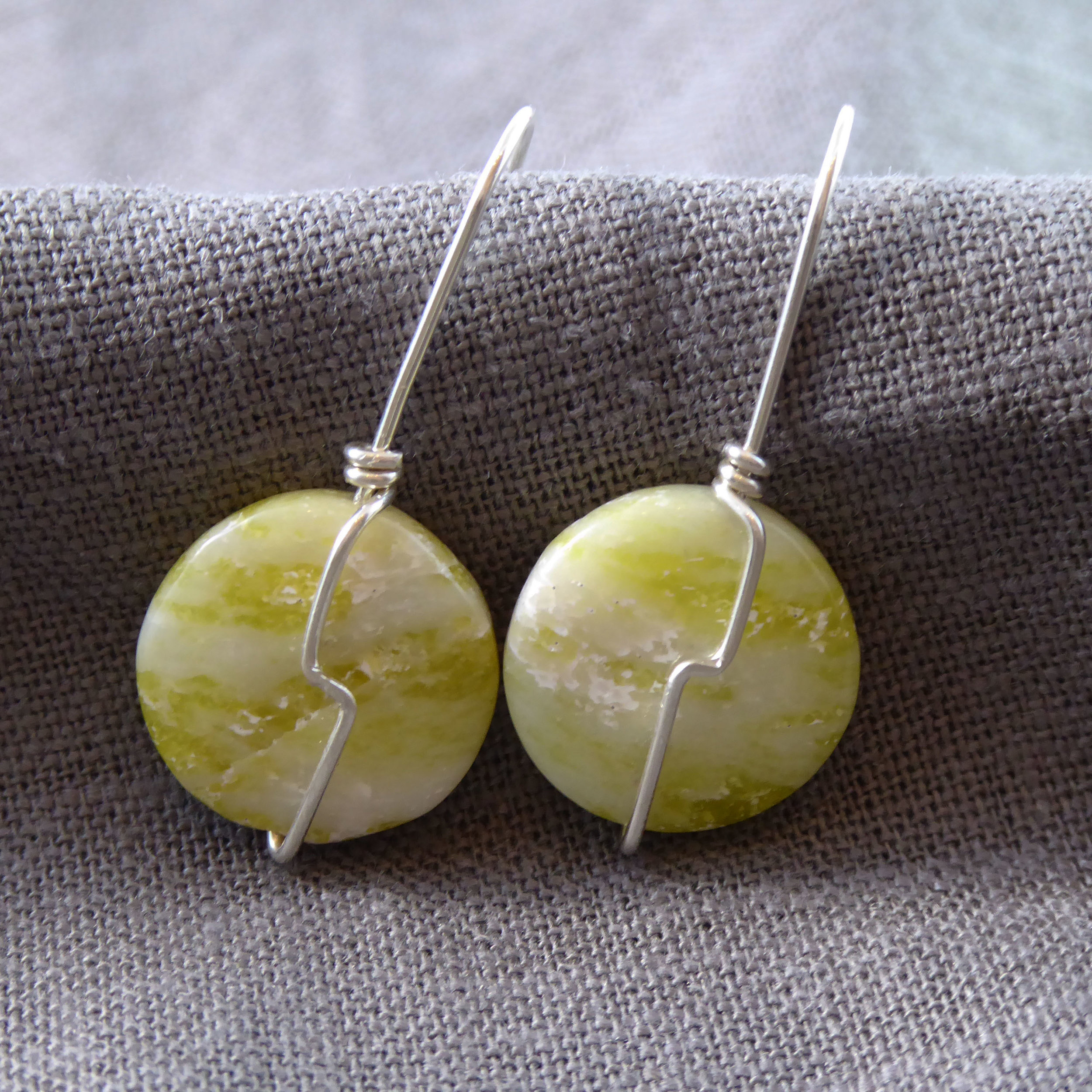 Lemon Jasper and Sterling Silver